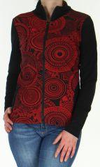 Veste légère pour Femme Originale et Ethnique Sensia Rouge 278324