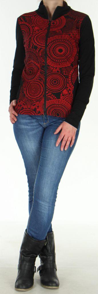Veste légère pour Femme Originale et Ethnique Sensia Rouge 278325