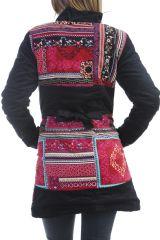 Veste longue femme originale en velours à boutons Burek
