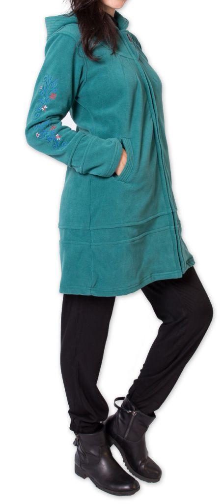 Veste Longue Polaire Ethnique et Bien Chaude Mandre Turquoise 277640