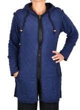 Veste mi- longue original et pas cher de couleur violette Pwel 304332