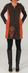 Veste mi-longue à capuche Ethnique et Colorée Siméa 274019