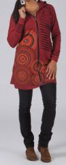 Veste mi-longue à capuche Ethnique et Originale Amira 274161