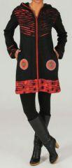 Veste mi-longue à capuche Ethnique et Originale Ewan 274265