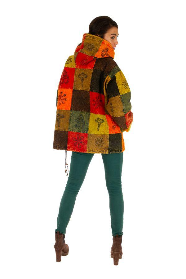 Veste mixte ethnique et colorée style vareuse Dalaba 313228