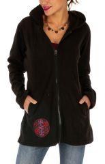 Veste polaire à capuche pour femme ethnique Greenville 313306