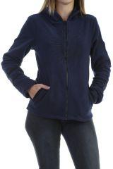Veste polaire chaude et tendance marine imprimée noire Marianne 304008