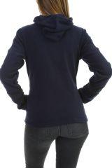 Veste polaire chaude et tendance marine imprimée noire Marianne 304010