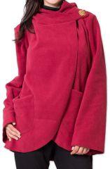 Veste Polaire Ethnique et Chaude pour Femme Ottawaa Rouge 275903