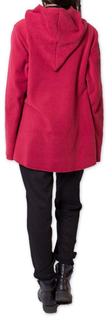 Veste Polaire Ethnique et Chaude pour Femme Ottawaa Rouge 275904