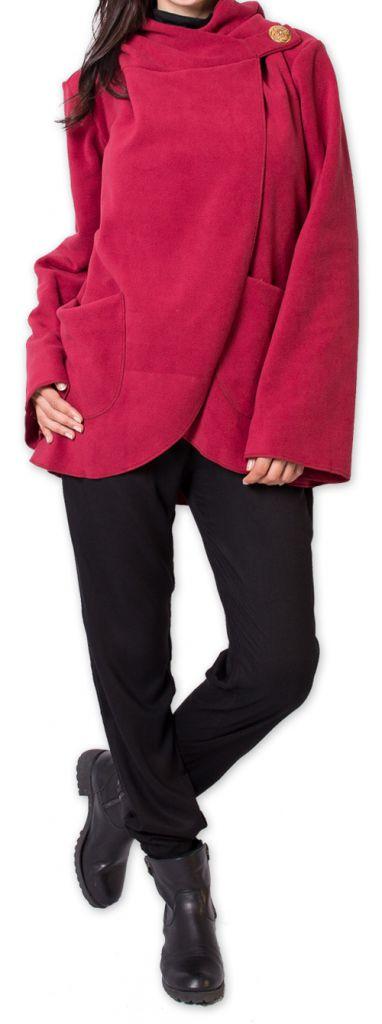 Veste Polaire Ethnique et Chaude pour Femme Ottawaa Rouge 275905