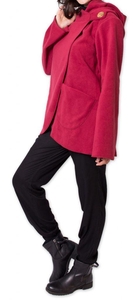Veste Polaire Ethnique et Chaude pour Femme Ottawaa Rouge 275906