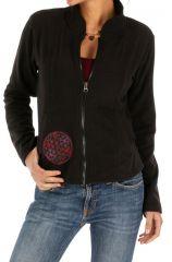 Veste polaire femme noire pas cher fantaisie sport Ella 313221