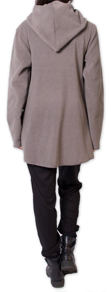 veste polaire pour femme ethnique et chaude ottawaa grise. Black Bedroom Furniture Sets. Home Design Ideas