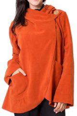 Veste polaire pour Femme Ethnique et Chaude Ottawaa Orange 275899