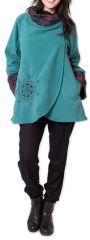 Veste polaire pour Femme Ethnique et Imprimée Huddson Bleue 275602
