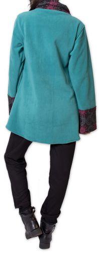 Veste polaire pour Femme Ethnique et Imprimée Huddson Bleue 275604