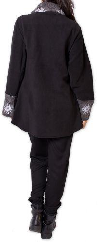 Veste polaire pour Femme Ethnique et Imprimée Huddson Noire et Grise 275600