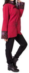 Veste polaire pour Femme Ethnique et Imprimée Huddson Rouge 275611