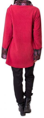 Veste polaire pour Femme Ethnique et Imprimée Huddson Rouge 275612