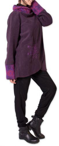 Veste polaire pour Femme Ethnique et Imprimée Huddson Violette 275615