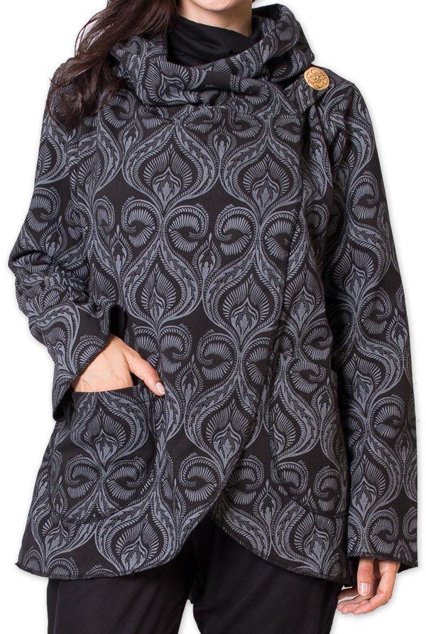 veste pour femme doublee polaire ethnique et chaude nyl noire. Black Bedroom Furniture Sets. Home Design Ideas
