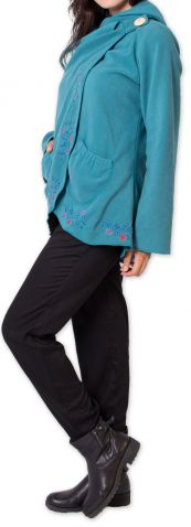 Veste pour Femme en Polaire Ethnique et Originale Colombia Bleue 275579