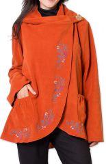 Veste pour Femme en Polaire Ethnique et Originale Colombia Orange 275581