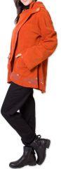 Veste pour Femme en Polaire Ethnique et Originale Colombia Orange 275583