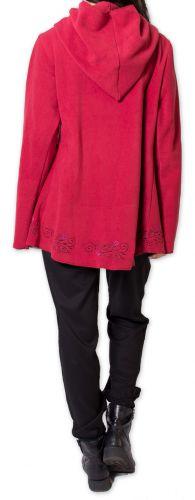 Veste pour Femme en Polaire Ethnique et Originale Colombia Rouge 275588