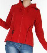 Veste pour Femme en Polaire Style Tribal et Coloré Butwal Rouge 277613
