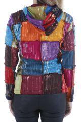 Veste pour femme ethnique style patchwork colorée Savanah 310535