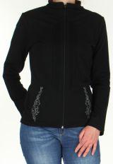 Veste pour Femme légère et Originale à motifs Tribal Casia Noire 278396